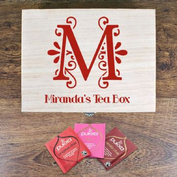 Love Chai' Tea Box With Initial